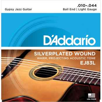 D´addario EJ83L Gypsy Jazz Ball End Light cuerdas para guitarra acústica
